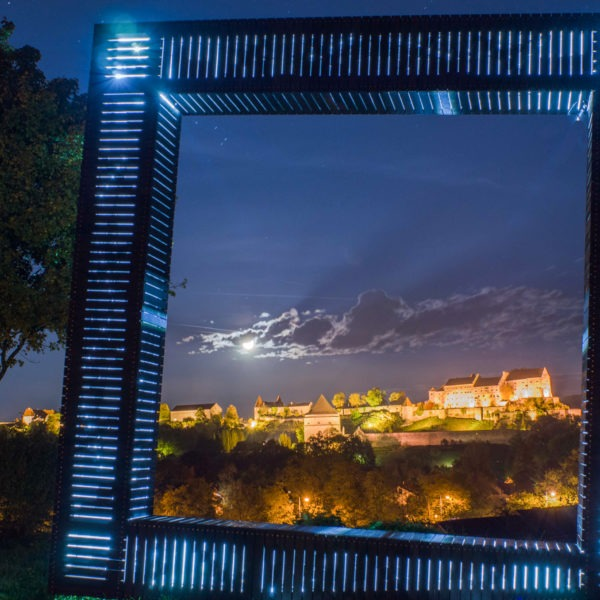 Aussicht Bayerische Alm zur Burg