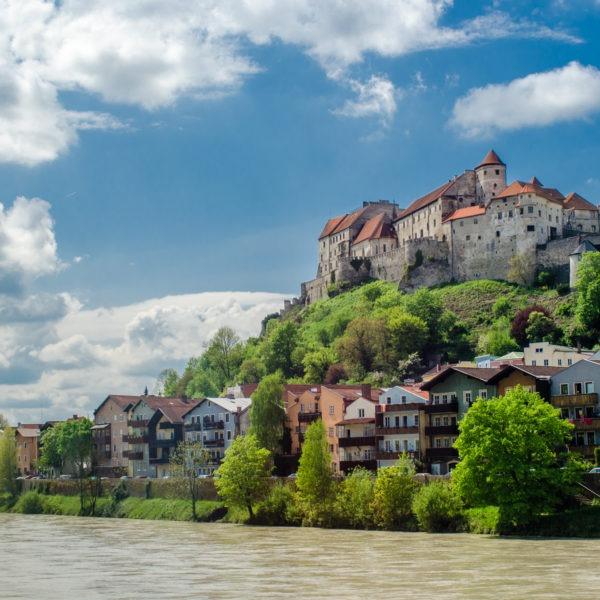 Aussicht Salzach Burg