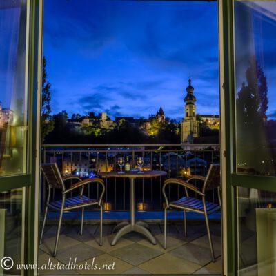Aussicht vom Hotel Burgblick