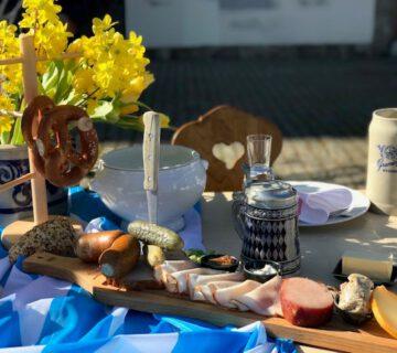 gedeckter Tisch, Brotzeit, Postgarten