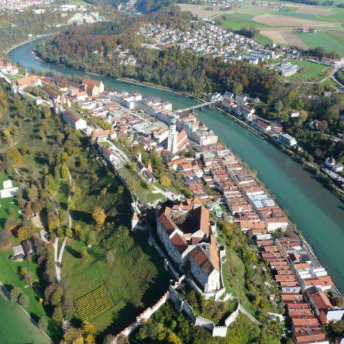 Luftaufnahme Burghausen