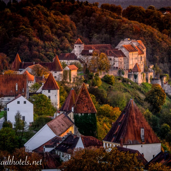 Luftbild Burghauser Burg